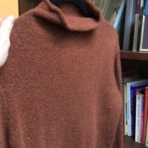 Madewell Burnt Orange mockneck sweater
